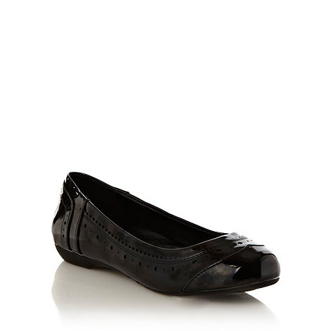 Good for the Sole - Black wide fit wide fit brogue trimmed pumps