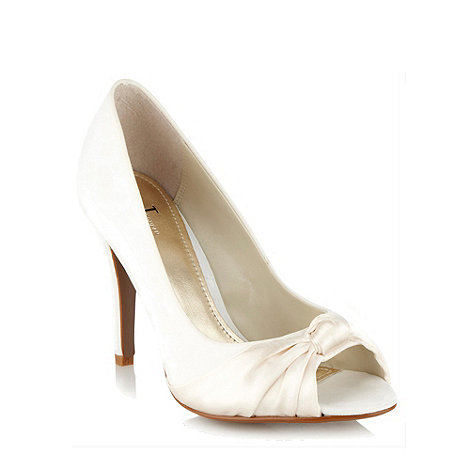 J by Jasper Conran - Cream silk cort shoes