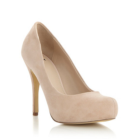 J by Jasper Conran - Beige suede high heeled court shoes
