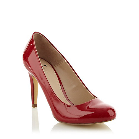 J by Jasper Conran - Red high heel patent court shoe