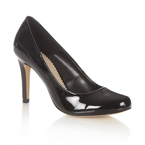 J by Jasper Conran - Black high heel patent court shoes
