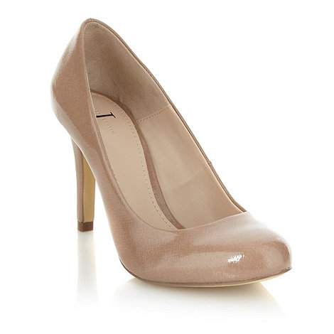 J by Jasper Conran - Beige high heel patent court shoe