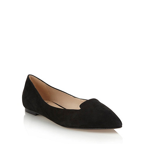 J by Jasper Conran - Black suede pointed toe pumps