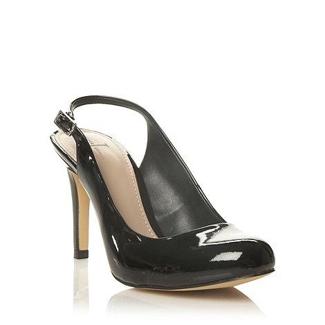 J by Jasper Conran - Black patent high heel slingback court shoes