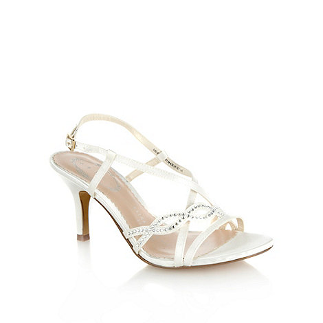 Debut - Ivory wavy diamante strapped high heeled sandals