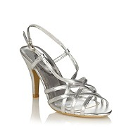 womens silver heel sling back shoes