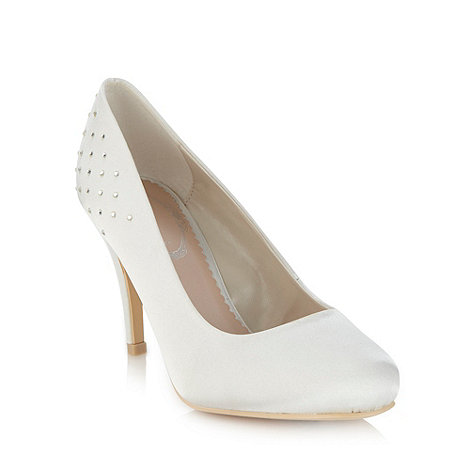 Debut - Ivory satin high court shoes