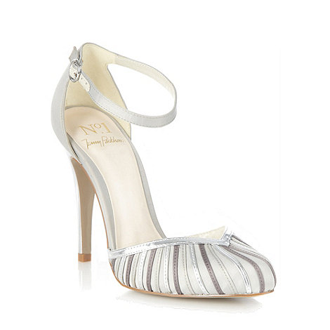No. 1 Jenny Packham - Taupe satin strap high court shoes