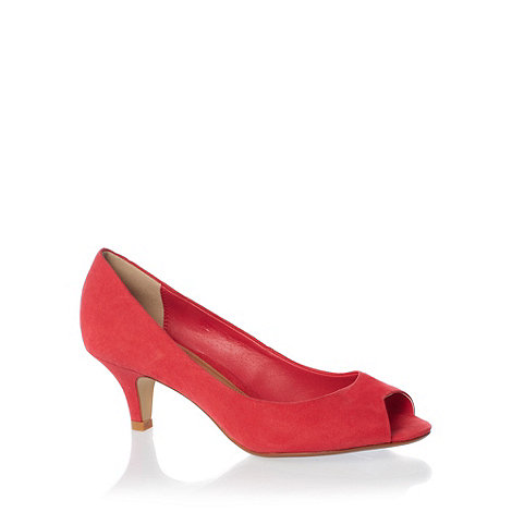 Red Herring - Pink +steffi+ peep toe court shoes