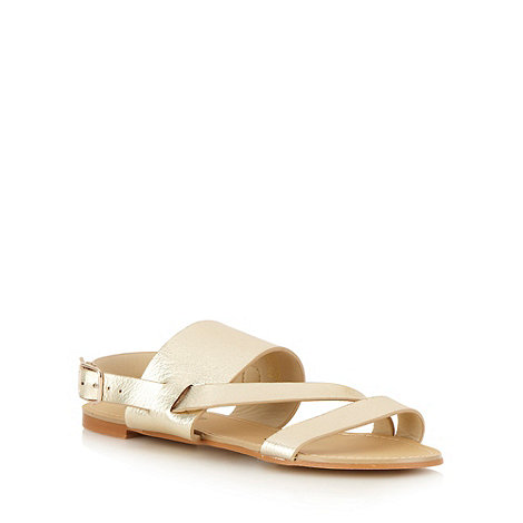 Red Herring - Light gold wide strap sandals