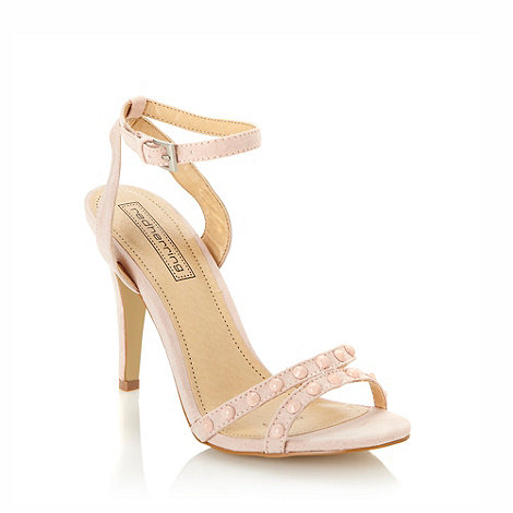 Red Herring - Pale pink studded high sandals