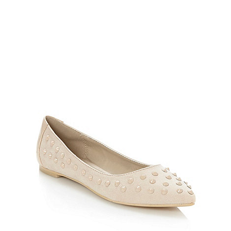 Red Herring - Natural studded pointed toe pumps