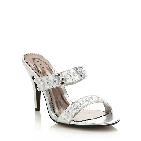 Debut - Silver diamante strap high sandals