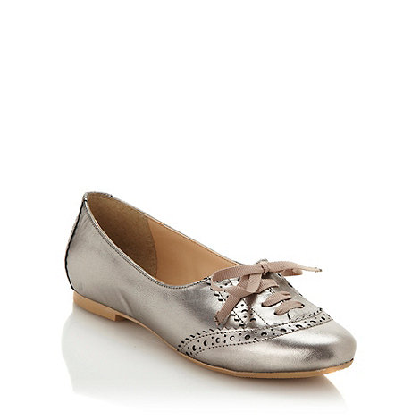 RJR.John Rocha - Silver metallic leather pumps