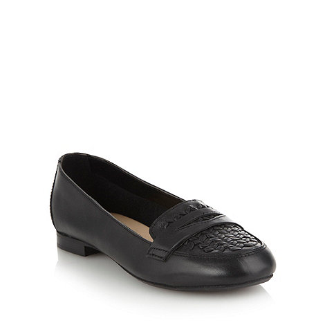 RJR.John Rocha - Black woven toed low heeled pumps