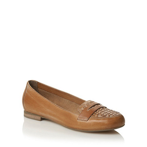 RJR.John Rocha - Tan woven leather pumps