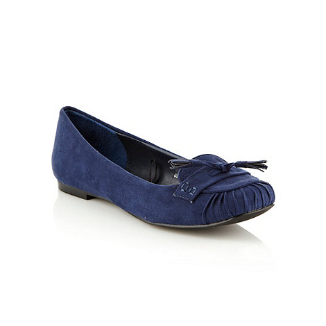 RJR.John Rocha - Navy pleated and tasselled pumps