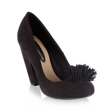 RJR.John Rocha - Black suedette high heel court shoes with tassel trim
