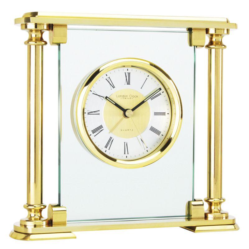 London Clock Beaulieu Mantel Clock, Gold