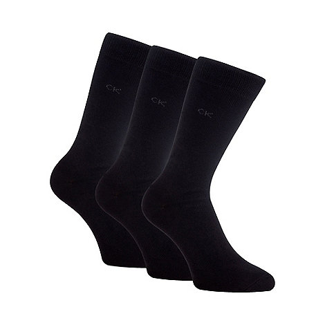 Calvin Klein - Pack of three black socks