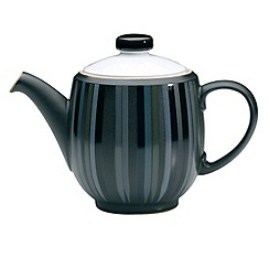 Denby - Glazed striped 'Jet' teapot