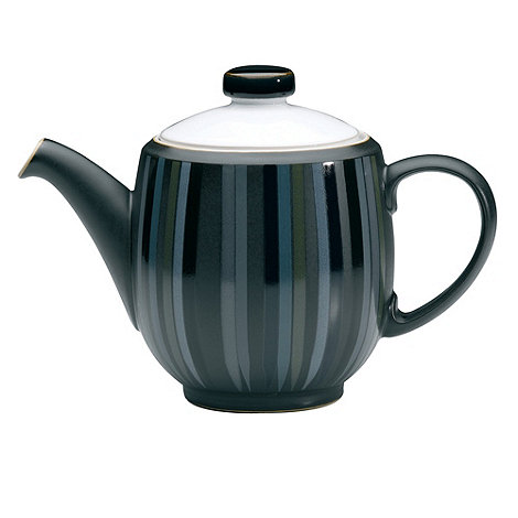 Denby - Glazed striped +Jet+ teapot