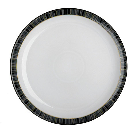 Denby - Glazed striped +Jet+ tea plate
