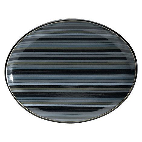 Denby - +Jet+ striped oval platter