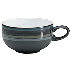 Denby - Glazed striped 'Jet' tea cup