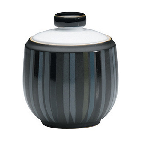 Denby - Jet striped sugar bowl