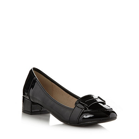 Principles by Ben de Lisi - Designer black patent low heel loafers