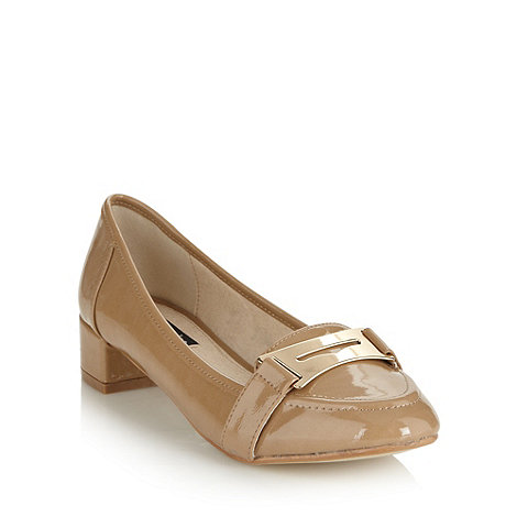 Principles by Ben de Lisi - Designer taupe low loafer court shoes