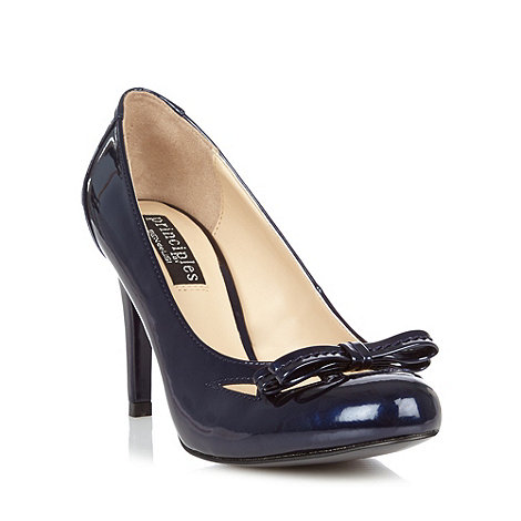 Principles by Ben de Lisi - Designer navy cut out bow high court shoes