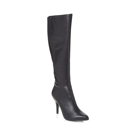 Principles by Ben de Lisi - Designer black panel knee length high boots