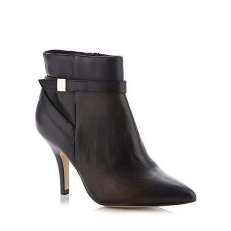 Principles by Ben de Lisi - Designer black cross strap high ankle boot