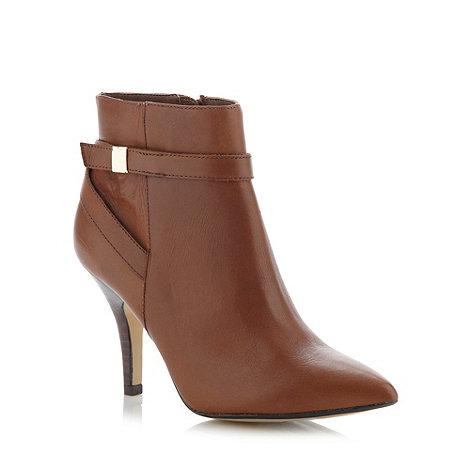 Principles by Ben de Lisi - Designer tan cross strap high ankle boots
