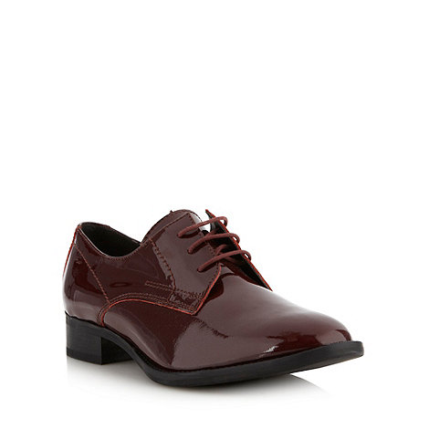 Betty Jackson.Black - Designer wine patent leather brogues