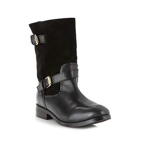 J by Jasper Conran - Designer black leather biker boots