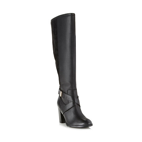 J by Jasper Conran - Designer black leather knee high boots