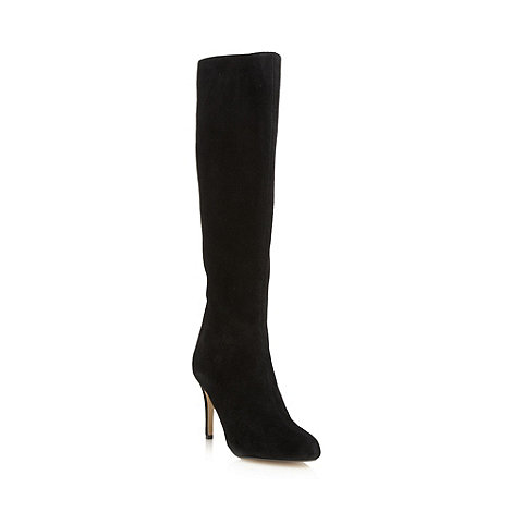 J by Jasper Conran - Designer black suede high knee length boots