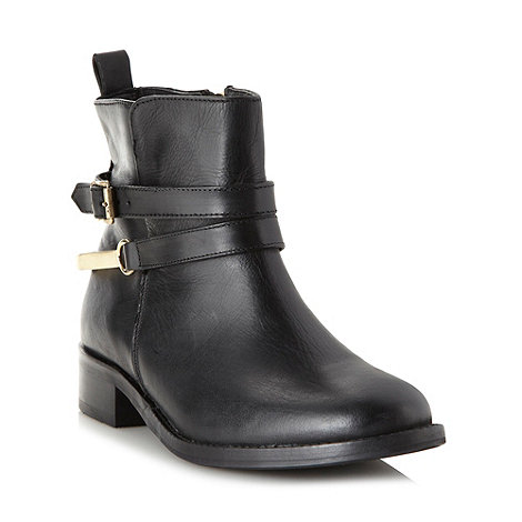 J by Jasper Conran - Designer black buckled leather ankle boots