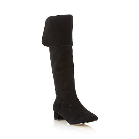 J by Jasper Conran - Designer black suede knee length boots