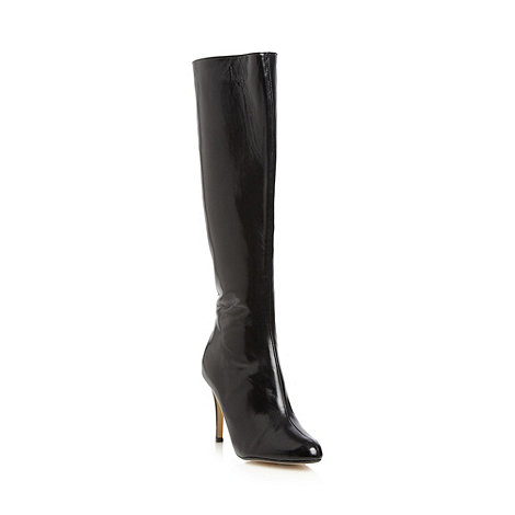 J by Jasper Conran - Designer black leather high knee length boots