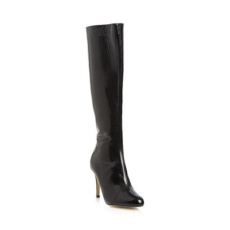 J by Jasper Conran - Designer black leather high knee length boots