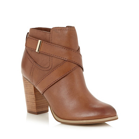 J by Jasper Conran - Designer tan leather high block heel ankle boots