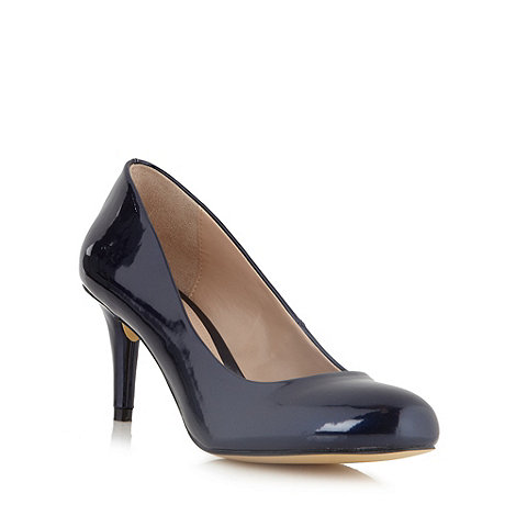 J by Jasper Conran - Designer navy mid heeled court shoes
