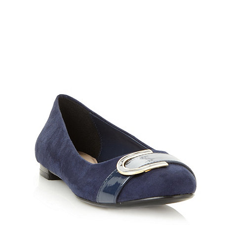 J by Jasper Conran - Designer navy d ring trim pumps