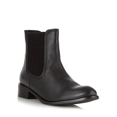 J by Jasper Conran - Designer black textured elastic chelsea boots