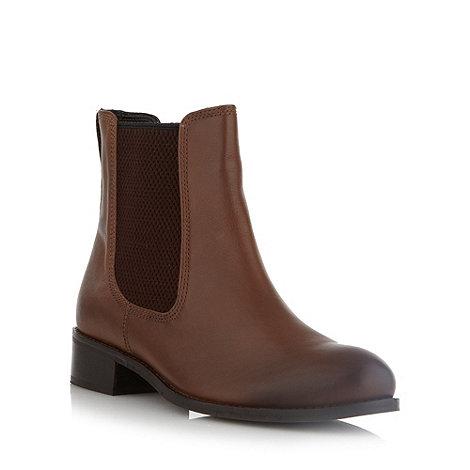 J by Jasper Conran - Designer brown textured elastic chelsea boots