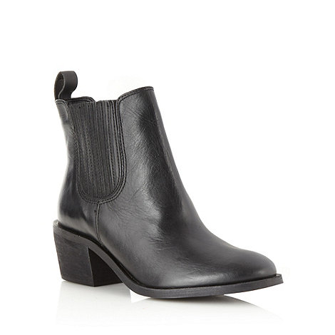 J by Jasper Conran - Designer black mid chelsea boots